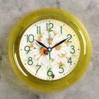 """Часы настенные, серия: Цветы, """"Ромашки"""", жёлтый обод, 22х22 см"""