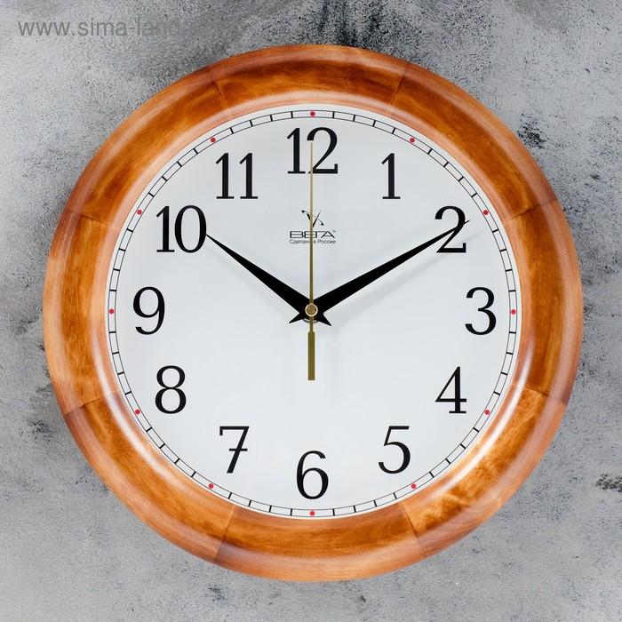 """Часы настенные, серия: Классика, """"Классика"""", деревянный обод, 30х30см,  микс"""
