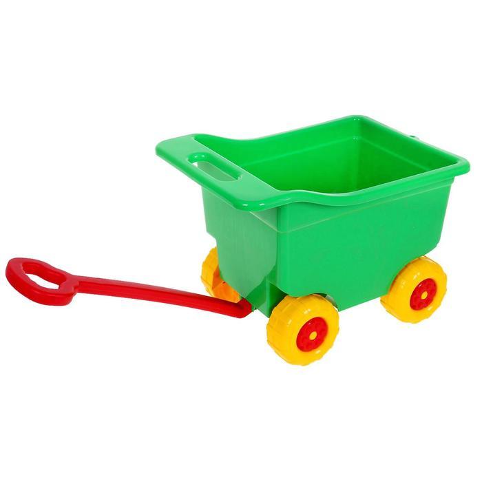Тележка для игр на колёсах, большая, цвет зелёный