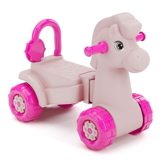 """Каталка детская """"Лошадка"""", цвет розовый"""