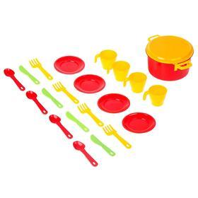 Набор посуды для кукол на 4 персоны «Хозяйка»