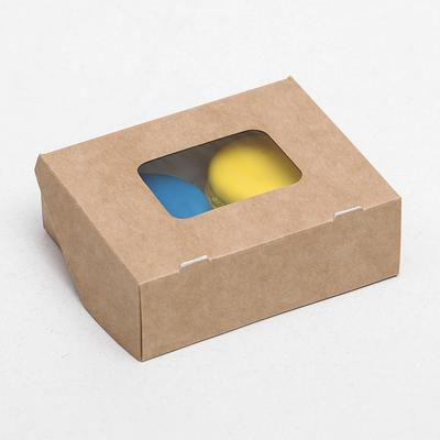 Коробка складная, крафт, 10 х 8 х 3,5 см, 0,24 л - Фото 1
