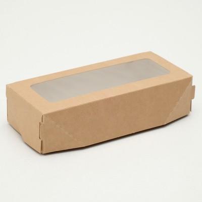 Коробка складная, крафт, 17 х 7 х 4 см, 0,5 л - Фото 1