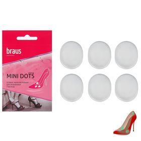 Гелевые мягкие самоклеящиеся вкладыши для стоп Braus Mini Dost, 6 шт.