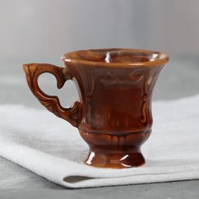 """Чашка кофейная """"Блиц"""" коричневая, 0,1 л"""