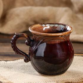 """Чашка кофейная """"Арго"""" коричневая, 0.3 л"""