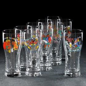 Бокал для пива «Паб. По пивку», 500 мл, рисунок МИКС