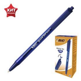 Ручка шариковая, автоматическая, синяя, среднее письмо, BIC Round Stic Clic