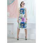 Платье, цвет синий, размер 42, рост 164 см (арт. 4702)