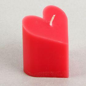 Свеча-пирамида 'Сердце' 6,8 х 7,5 см, цвет красный Ош