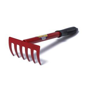 Грабли прямые, 6 зубцов, длина 31 см, пластиковая ручка
