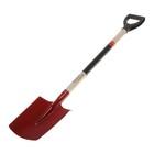 Лопата штыковая, прямоугольная, деревянный черенок, с ручкой