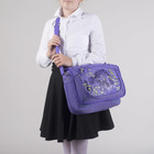 Сумка-трансформер молодёжная, 1 отдел, наружный карман, цвет сиреневый