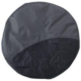 Чехол запаски, размер R 15,  черно-серый Ош