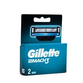 Сменные кассеты Gillette Mach3, 3 лезвия, 2 шт