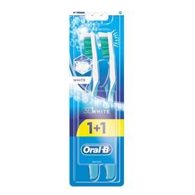 "Зубная щетка Oral-B ProExpert 3D White ""Отбеливание"", 40 средней жесткости + 1 шт., МИКС"