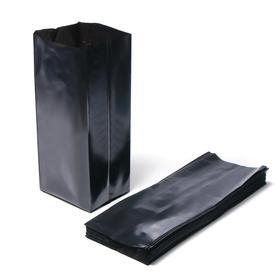 Пакет для рассады, 5 л, 12 × 35 см, толщина 100 мкм, с перфорацией, чёрный Ош