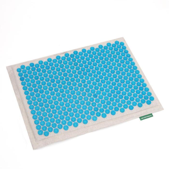 Массажёр-аппликатор «Тибетский», на мягкой подложке, для интенсивного воздействия, 41 ? 60 см, цвет синий