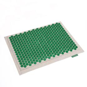 Массажёр-аппликатор «Тибетский», на мягкой подложке, для чувствительной кожи, 41 × 60 см, цвет зелёный