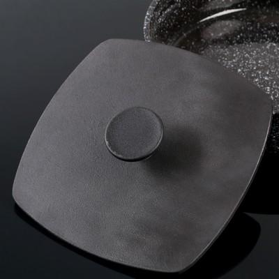 Крышка-пресс чугунная, 21×21 см, квадратная, с ручкой - Фото 1