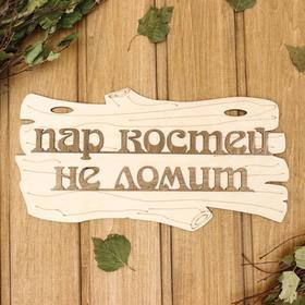 Табличка для бани 'Пар костей не ломит' 30х17см Ош