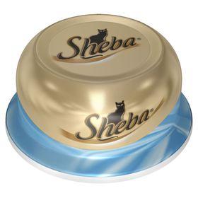 Влажный корм Sheba для кошек, тунец в соусе, ламистер 80 г