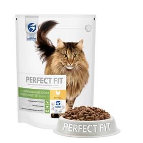 Корм сухой PERFECT FIT для стерилизованных котов и кошек старше 7 лет, курица, 650 г