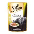 Влажный корм Sheba Pleasure для кошек, утка/цыпленок, пауч, 85 г