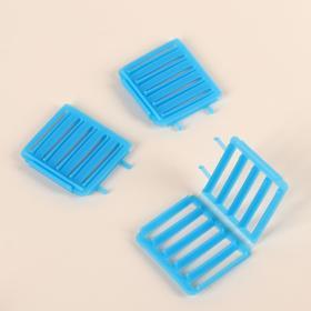 Бигуди «Зиг-заг», 7 × 6 см, 3 шт, цвет голубой Ош