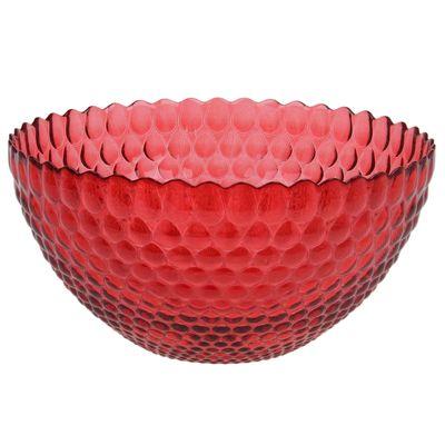 Салатник «Роса», 2,8 л, d=25 см, цвет рубиновый