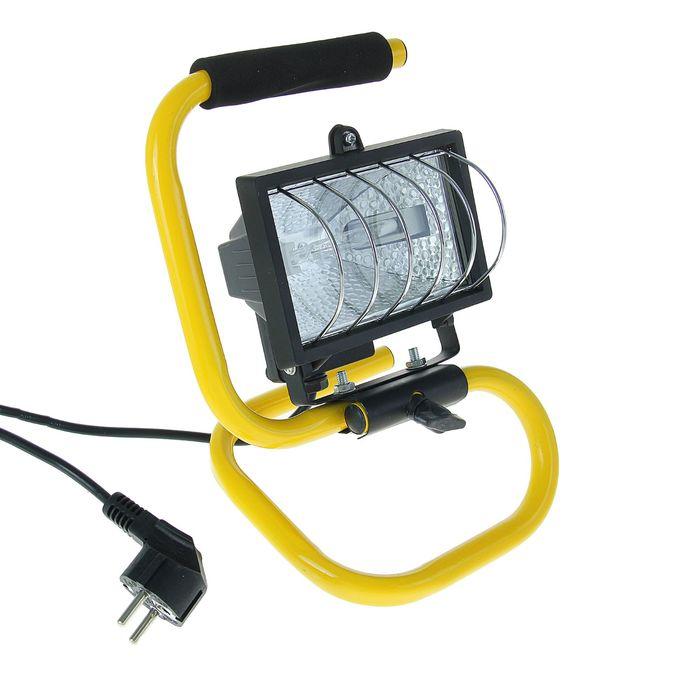 Прожектор галогенный TDM ИО150П, R7S, 150 Вт, 2700 К, IP54, переносной, чёрный