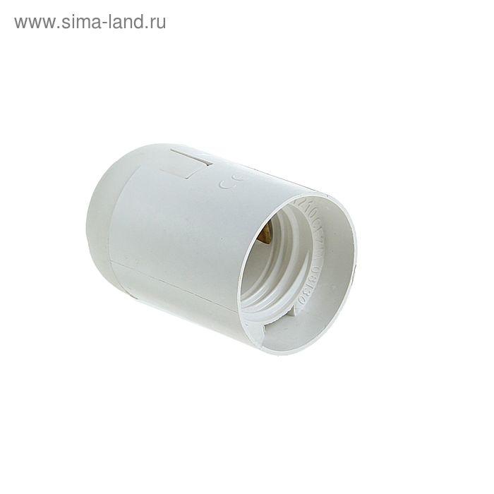Патрон TDM, Е27, подвесной, термостойкий пластик, белый