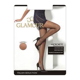 Колготки женские Glamour Collant Microrete glamour, сетка, цвет nero (чёрный), размер 3