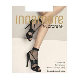 Носки женские Innamore Microrete Calzino, сетка, 2 пары, цвет nero (чёрный)