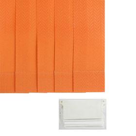 Набор ламелей 180 см 'Вертикальные шторы.Магнолия', 5 шт, цвет терракотовый Ош