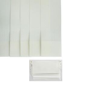 Набор ламелей 180 см 'Вертикальные шторы. Магнолия', 5 шт, цвет белый Ош