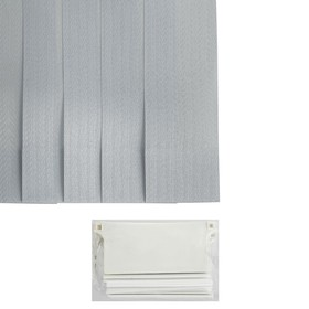 Набор ламелей 180 см 'Вертикальные шторы. Магнолия', 5 шт, цвет серый Ош