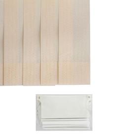 Набор ламелей 180 см 'Вертикальные шторы. Магнолия', 5 шт, цвет бежевый Ош