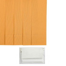 Набор ламелей 180 см 'Вертикальные шторы. Лайн', 5 шт, цвет жёлтый Ош