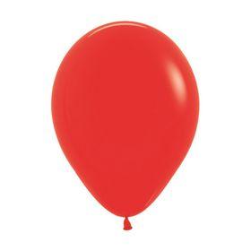 """Шар латексный 12"""", пастель, набор 12 шт., цвет красный 015"""