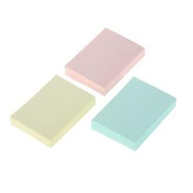 Блок с липким краем Hopax, 100 листов, 38 х 51 мм, пастельный, 3 цвета