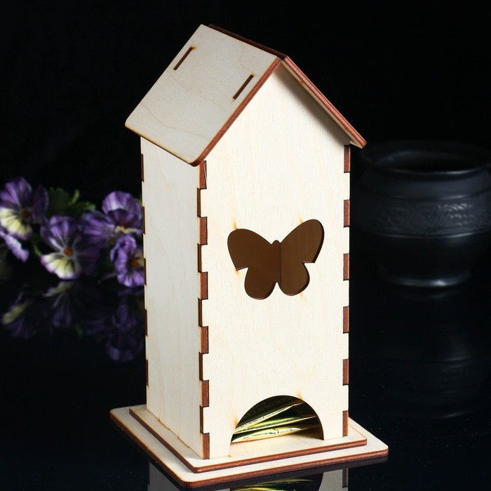 Заготовка для декупажа Чайный домик Бабочка 13 х 13 х 24 см
