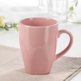 Кружка Доляна «Пастель», 280 мл, цвет розовый
