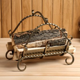 Дровница малая с поддоном 48х40х42 см Ош