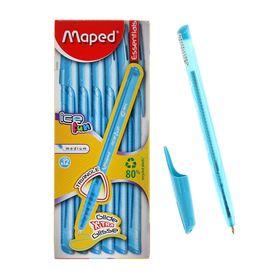 Ручка шариковая Maped Green Ice Fun, голубой стержень, треугольный корпус, одноразовая