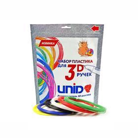 Пластик UNID PLA-6, для 3Д ручки, 6 цветов в наборе, по 10 метров Ош