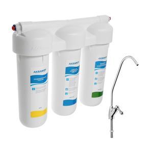 """Фильтр для воды """"Аквафор"""" Трио Норма, 3-х ступенчатый, с краном, 2 л/мин"""