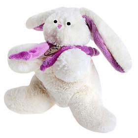 Мягкая игрушка «Кролик» 15см, цвет белый/фиолетовый
