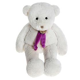 Мягкая игрушка «Медведь», цвет белый/фиолетый, 40 см