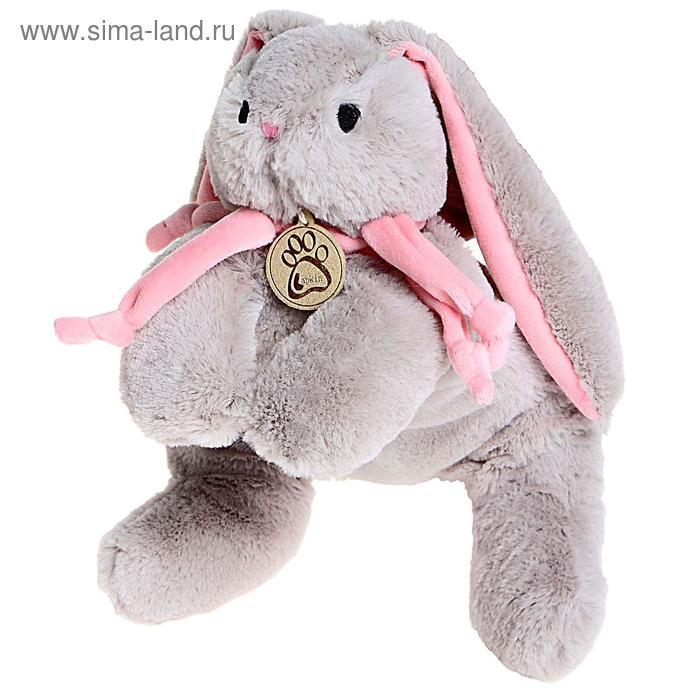 Мягкая игрушка «Кролик», цвет серый, 30 см